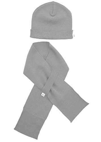 Merino Kids Hat and Scarf, Grey,...