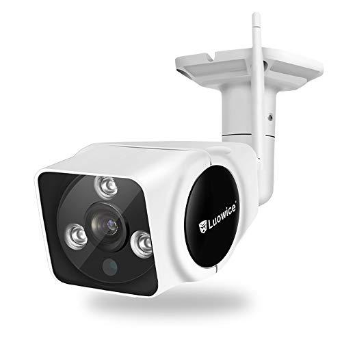 Luowice WLAN IP Kamera 1080P HD WiFi Überwachungskamera für Außen mit Personendetektion 2 Wege Audio IP66 wasserdichte Sicherheitskamera Infrarot Nachtsicht deutsche App/Anleitung