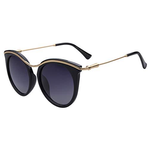 Persönlichkeit Katzenaugen-Dame polarisierte Sonnenbrille umrandeten TR90 UV-Schutz für das Fahren im Freien von Eyewear. Brille (Farbe : Grey)