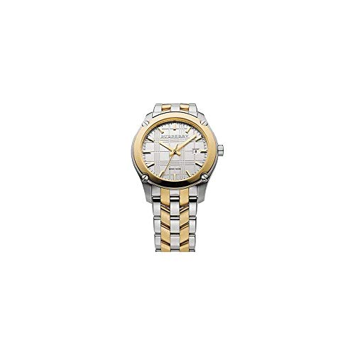 Burberry Heritage Swiss lusso rotondo argento e oro oro/oro 42mm Stainless Steel Band data quadrante orologio unisex donna uomo BU1856