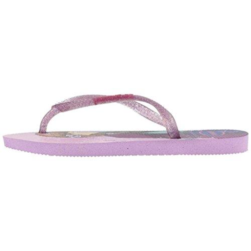 Havaianas Slim Princess Mädchen Durchgängies Plateau Sandalen violett - weiß - blau