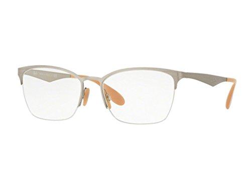 Rayban Damen Brillengestell RX6345, Silber (Silver Brushed), 52