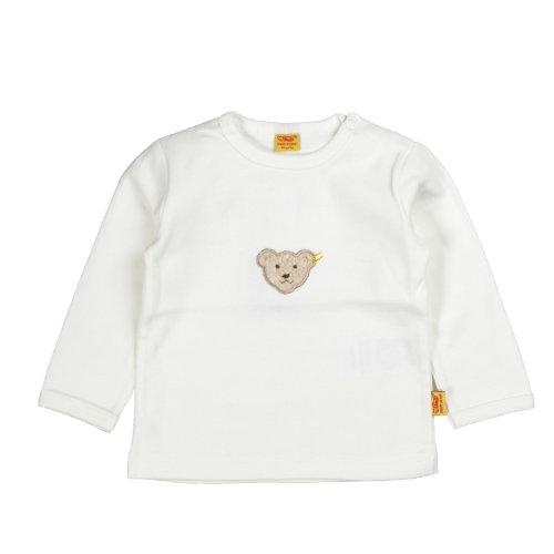 Steiff Unisex - Baby Sweatshirt 0006671, Gr. 68, Elfenbein (1610)
