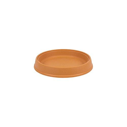 Massive support 21 cm pour pot de fleur en plastique, marron couleur