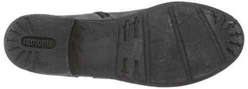 Remonte D2279 Damen Biker Boots Grau (asphalt/altsilber / 45)