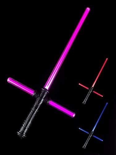 Fancy Ole - Kostüm Accessoires Zubehör Fake leuchtendes Laserschwert Kreuzschwert 71cm, perfekt für Karneval, Fasching und Fastnacht, Mehrfarbig