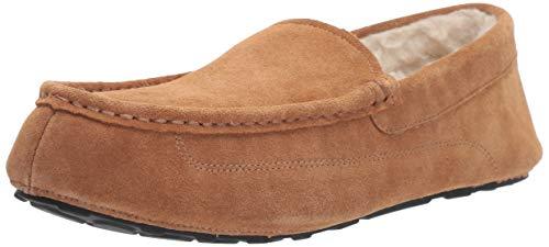 Amazon Essentials Sierra Men's Leather Moccasin Slipper Niedrige Hausschuhe, Chestnut, EU 45