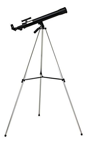 HitecDis, telescopio rifrattore per astronomia F600/5050mm 50x/100x con treppiede regolabile con telescopio cercatore 3x per trovare oggetti,leggero e compatto