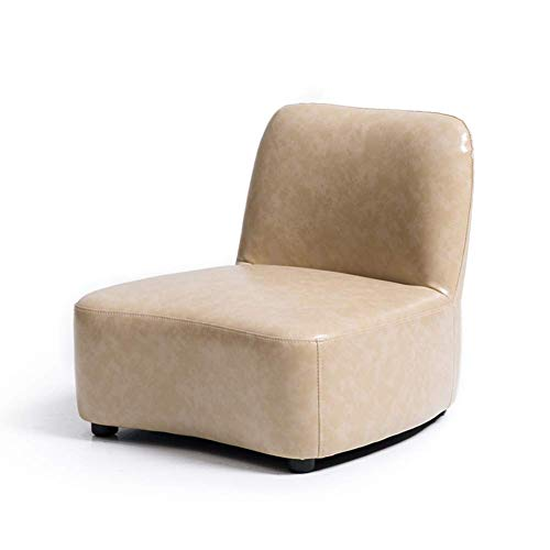 Kinder Sofa, Cute Niedriger hocker Baby Kleines Sofa, Pu Leder rücksitz Kindersessel Cartoon Mini-Sessel,Leicht Tan,39.5x41x45cm(16x16x18inch) - Kind-tan-leder