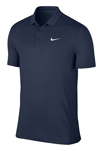 Nike M NK Dry Polo Slim LC Victory Maillot manches courtes de golf pour homme, Bleu (Midnight Navy / White), L