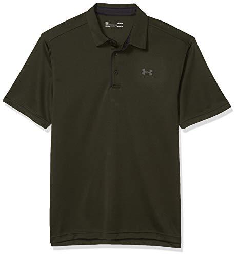 Under Armour Herren Tech Golf T-Shirt Polo, Artillery Green (358)/Black, 4X-Large