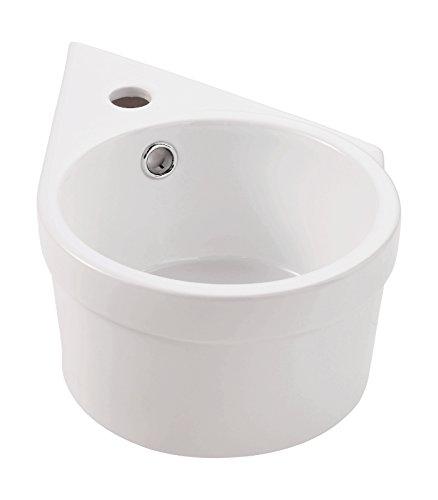 Handwaschbecken Reflex | Ausführung rechts | 39 cm | Weiß | Waschtisch | Gäste-WC