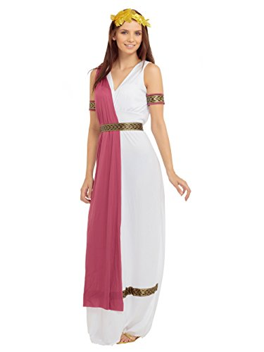 (Stinkyface Griechische Göttin Caesar, Toga Kostüm für Frauen Erwachsene Kostüm)