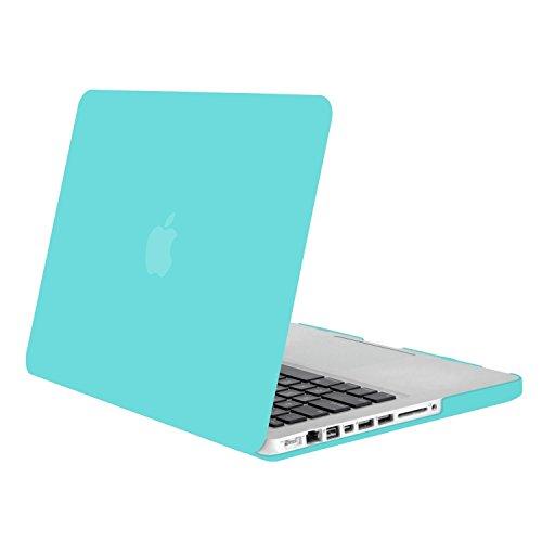 MOSISO Funda Dura Compatible Old MacBook Pro 13 Pulgadas con CD-Rom A1278 (Versión 2012/2011/2010/2009/2008), Carcasa Rígida Protector de Plástico Cubierta, Turquesa