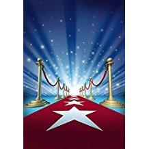 x 220cm) Stage Red Carpet Fotografie Hintergrund Neugeborene Baby Geburtstag Foto fd-1412 ()