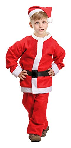 Weihnachtsmann Nikolaus Kostüm für Kinder - Komplettset - 1-3 Jahre