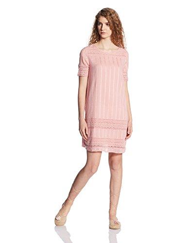 VERO MODA Women's Cotton A-Line Dress (10169867_Bridal Rose_S)