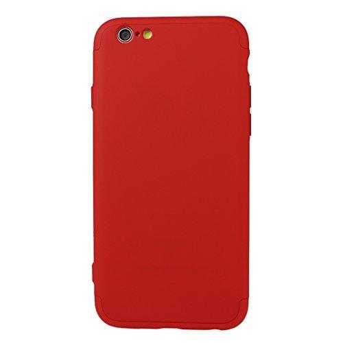 Dure Coque Pour iPhone 6 Plus / 6S Plus, Asnlove Cover PC Hard Intégrale Protection Housse Couleur Pure Mode Cas Ultra Mince Rigide Étui Antichoc Case Pour iPhone 6 Plus/6S Plus - Champagne doré Rouge