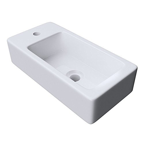durovin pequeño Mini lavado a mano lavabo para colgar de pared un agujero grifo fácil de limpiar