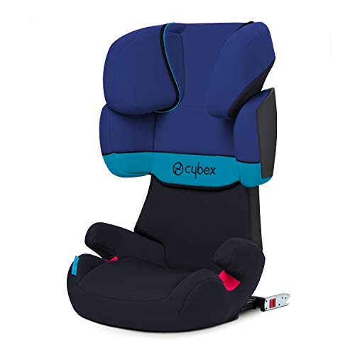 CYBEX Silver Solution X-Fix Child's Car Seat, For Cars with and without ISOFIX, Group 2/3 (15-36 kg), From approx. 3 to approx. 12 years, Blue Moon  CYBEX