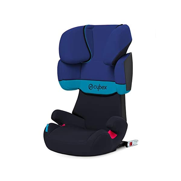 CYBEX Silver Solution X-Fix Child's Car Seat, For Cars with and without ISOFIX, Group 2/3 (15-36 kg), From approx. 3 to approx. 12 years, Blue Moon Cybex Sturdy and high-quality child car seat for long-term use - For children aged approx. 3 to approx. 12 years (15-36 kg), Suitable for cars with and without ISOFIX Maximum safety - 3-way adjustable reclining headrest, Built-in side impact protection (L.S.P. System) 11-way adjustable, comfortable headrest, Adjustable backrest, Comfortable seat cushion 1