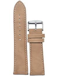 f164b947f Like Kolet Textured Matte Finish Leather Watch Strap (Beige, 24 mm)