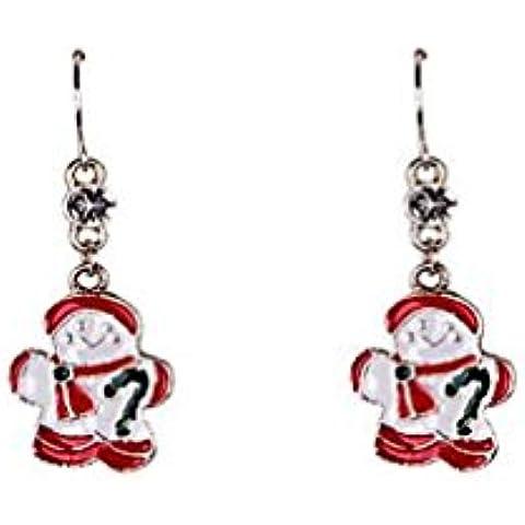 CCAIerd smalto moda santa claus orecchini di Natale
