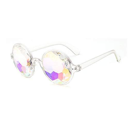 Wghz Sonnenbrillen Retro Round Kaleidoscope Sonnenbrillen Herren Damen Designer Kaleidoscope Brillen