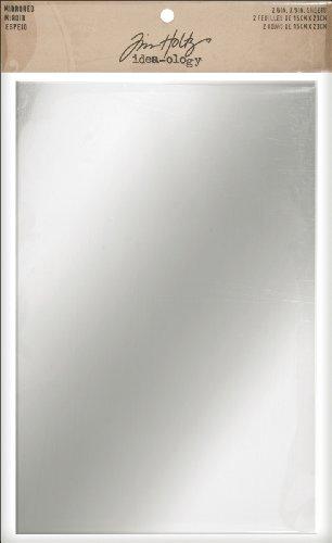 Tim Holtz Idea-ology 6 « X 9 » 2/Pqt de feuilles en miroir à endos adhésif d'idée-Ology-