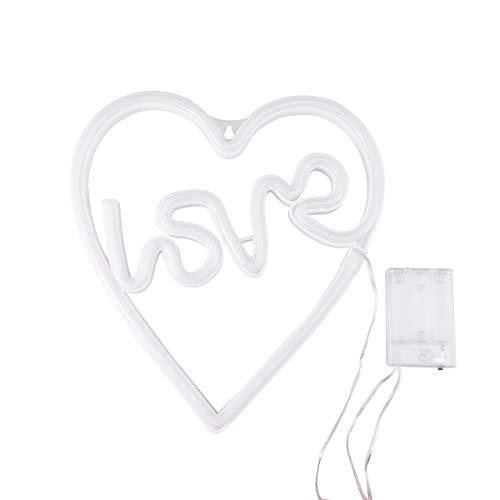 OSALADI Neon Zeichen led licht Wand nachtlicht Liebe geformt USB batteriebetriebenes nachtlicht für wohnaccessoires (ohne batterien) - Zeichen Neon-licht