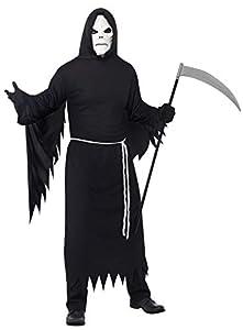 Smiffys Disfraz de La Muerte, con túnica con Capucha, Careta y cinturón