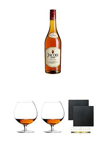 Jacobi 1880 VSOP Weinbrand 0,7 Liter + Cognacglas/Schwenker Stölzle 1 Stück - 103/18 +...
