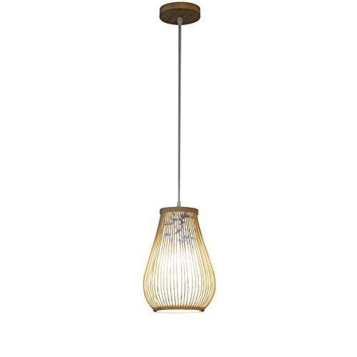 HNBY Lámpara de bambú de la rota, luz de techo del balcón ...
