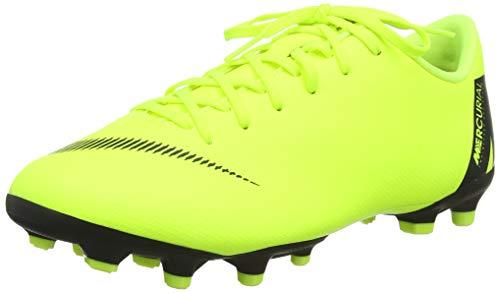 NIKE Jr Vapor 12 Academy GS FG/MG, Chaussures de Football Mixte Enfant, Multicolore (Volt/Black 701), 36 EU