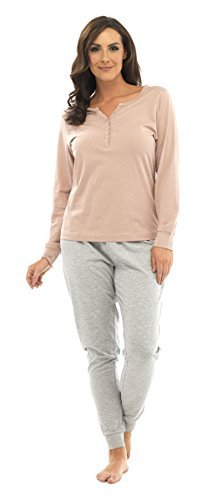Tom Franks Pyjama en jersey pour femme Pink Grey