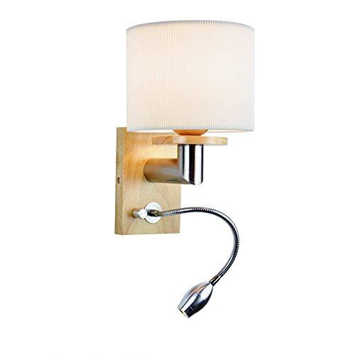 Applique murale moderne flexible réglable LED 3W Lampe de lecture chevet avec interrupteur Blanc chaud intérieur Chambre Veilleuse Blanc Plastique murale Spot Lampe design créatif E27 max 40 W