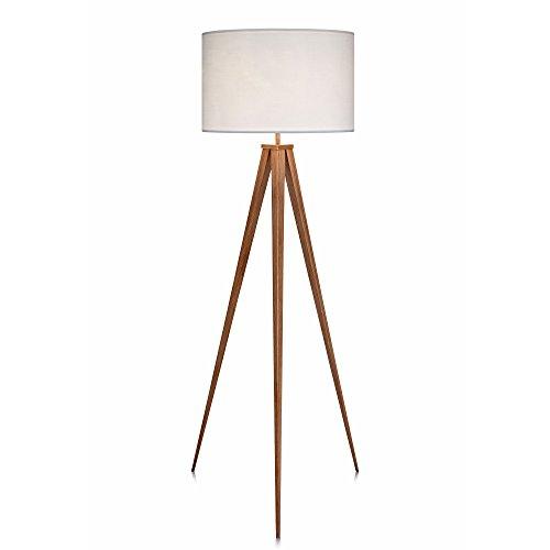 Versanora Stativ LED StandardStehlampe Weißer Schirm Modern Lighting VN-L00007 - Standard Stehlampe Deckenfluter Ist
