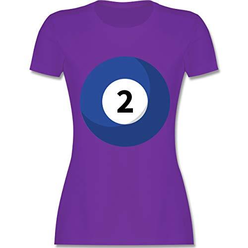 Friend Kostüm 2 Best - Karneval & Fasching - Billard Kugel 2 Kostüm - S - Lila - L191 - Damen Tshirt und Frauen T-Shirt
