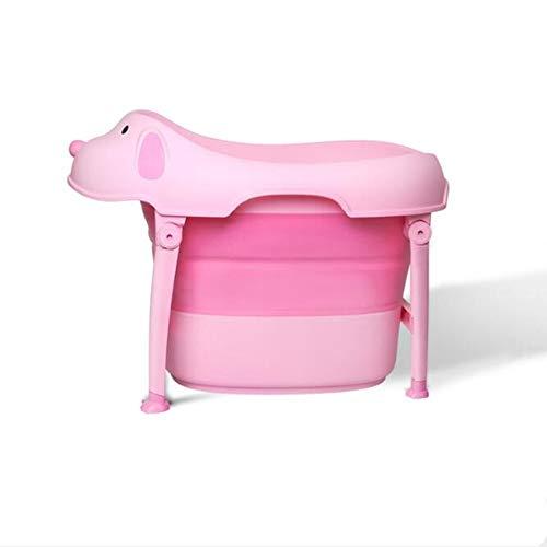 ZhiWei Faltbare badewanne im freien Baby Falten Rutschfeste tragbare Pflege Cartoon Hund geeignet für Reise Gesundheit Material -