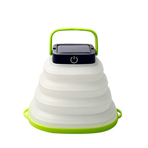 Einbruchbarer USB Camping Lantern LED Solar Light Night Taschenlampe Emergency Power Lampe mit USB-Port für Outdoor-Wanderungsgehegt SOS Emergency für Camping Wanderzelte Garten Patio