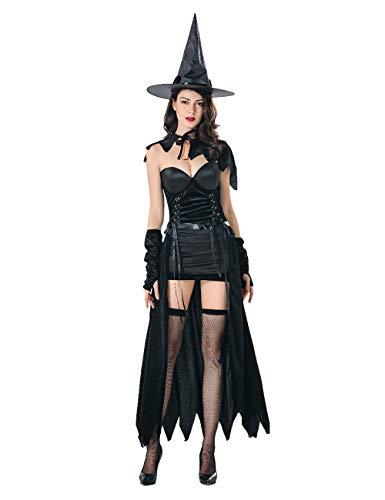 Zhuhaijq Halloween Damen Kostüm Hexe Zauberin Horror Vampir Gothic - Halloween Witchs Fancy Dress Adult Women's Costume Uniforms Temptation