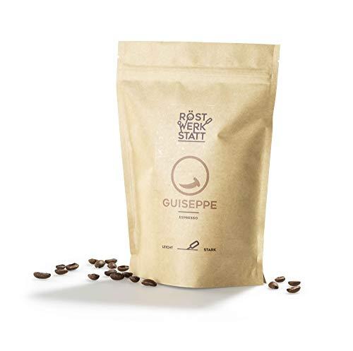 Röstwerkstatt Kaffee Guiseppe Espresso, Handgeröstete Premium Arabica Robusta Kaffeebohnen, Fair &...