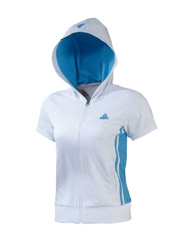 Peak Sport Europe, Polo Donna, FA12038 Bianco (weiß)