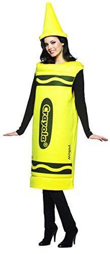 Rasta Imposta Crayola weiblich Kostüm (gelb) (Female Rasta Kostüm)
