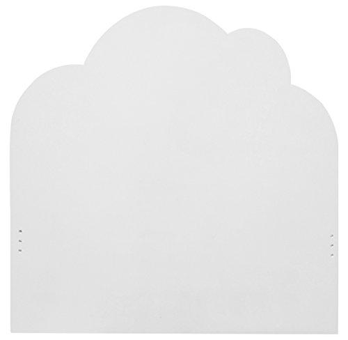 Bainba Nuvole testiera, Legno, Bianco, 2x 100x 107cm