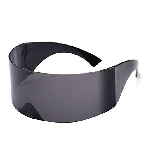 JU DA Sonnenbrillen Lustige Futuristische Wrap Um Monob Kostüm Sonnenbrille Maske Neuheit Gläser Halloween Party Party Liefert Dekoration schwarz