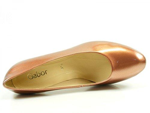 GABOR - Damen Pumps - Lack Silber Schuhe in Übergrößen Braun