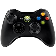 Microsoft Xbox 360 Wireless Controller for Windows - Volante/mando (Gamepad, PC, Xbox, D-pad, Select, Start, Inalámbrico, RF, 2,4 GHz) Negro
