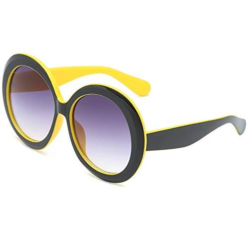 ACKCC Große runde Sonnenbrille Frauen/MännerBrillen Street Beat Shopping Classic Plastic UV400