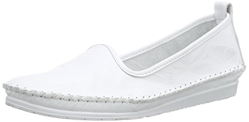 Andrea Conti Damen 0027449 Slipper, weiß 001), 37 EU - Damen Weiß Loafers Schuhe